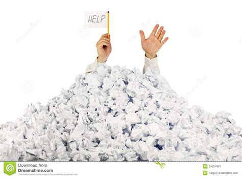 Help With Papers by Person Crumpled Pile Of Papers Stock Image Image