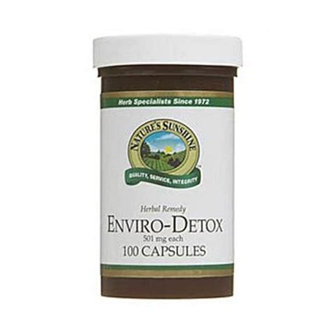 Benefits Of Detox Capsules by Enviro Detox 100 Capsules The Green House