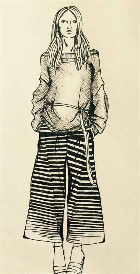 knit illustration graphic and knit fashion illustration marnay