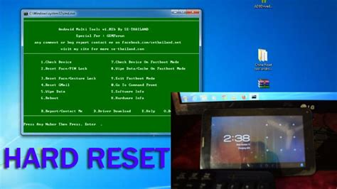 how to reset android tablet how to reset china tablet by utility software with image