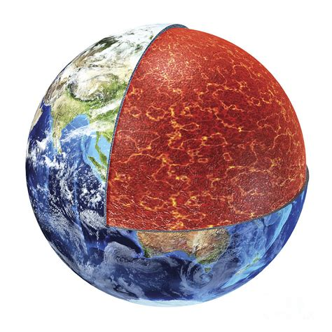 section of earth cross section of planet earth showing by leonello calvetti