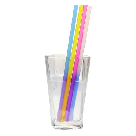 color changing straws colour changing spoon straws 8inch drinkstuff