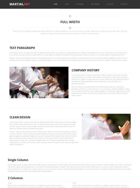 Karate Web Template Martial Arts Website Templates Dreamtemplate Karate Website Template
