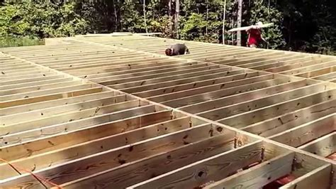 Floor Joist by Floor Joist Cabin In The Woods