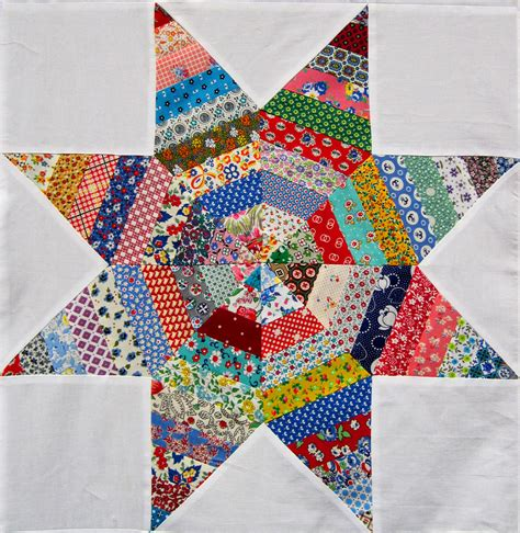 String Pieced Quilt Blocks by String Quilt Top Q Is For Quilter