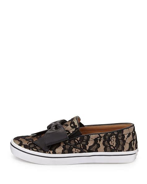 slip on sneaker kate spade delise lace bow slip on sneaker in black lyst