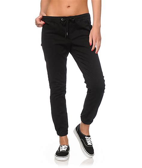 girls gray and black joggers pants black jogger pants womens simple black black jogger