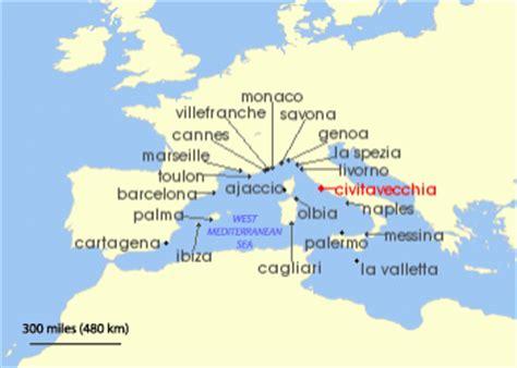 western mediterranean cruises from civitavecchia (rome)