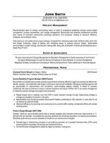 Excellent Project Manager Resume Example