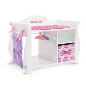 Baby Doll Changing Table Bitty S Baby Doll Changing Table Storage American
