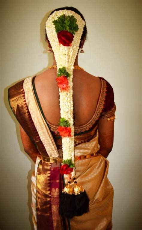 Traditional South Indian bride's bridal braid hairstyle