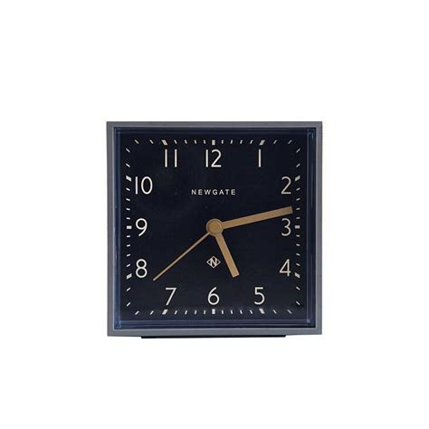 Cubic Black cubic clock in black mcgee co