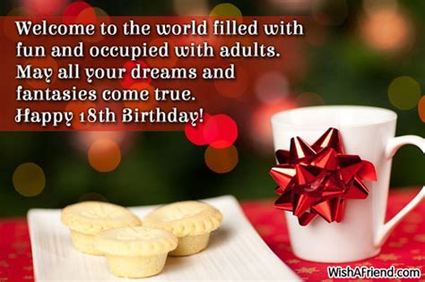 Happy 18th Birthday Wishes Quotes Happy 18th Birthday Quotes Quotesgram