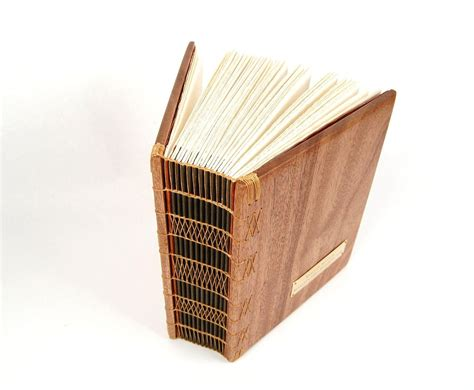 Handmade Photobook - made large mahogany photo album scrapbook handmade
