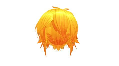 hair mmd download mmd orange short hair download by 9844 on deviantart