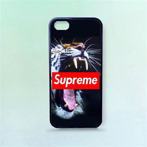 Iphone 7 Plus Supreme Floral Hardcase roar tiger supreme printed rubber iphone 4 4s by