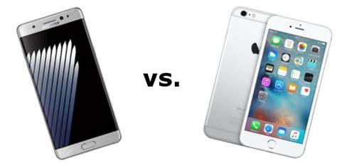 im vergleich samsung galaxy note7 vs apple iphone 6s plus