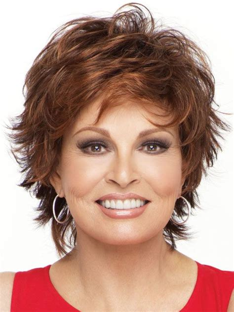 raquel welch short hairstyles cute short shag raquel welch entice wig short hair