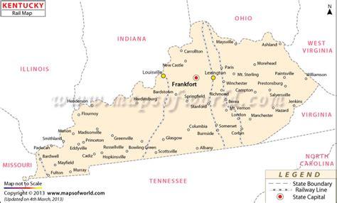 ky usa map kentucky rail map kentucky route map