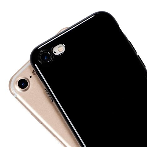 Iphone 7 Softcase Jet Black List Chrome Silicone Tpu Cover aliexpress buy jet black for iphone 6s soft glossy silicone for iphone 6s plus 5s se