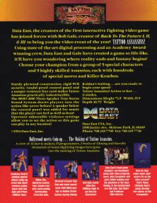 tattoo assassins arcade the arcade flyer archive video game flyers tattoo