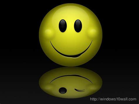 wallpaper emoticon 3d smiley windows 10 wallpapers