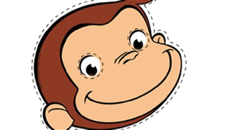 curious george face printables curious george mask birthday parties for kids pbs