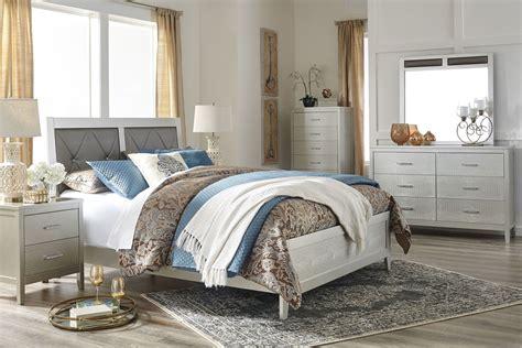 Coleman Furniture Bedroom Sets by Olivet Silver Upholstered Panel Bedroom Set From