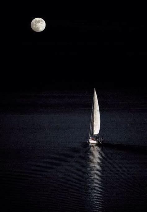sailboat at night sailboat moon at night art boats ships pinterest