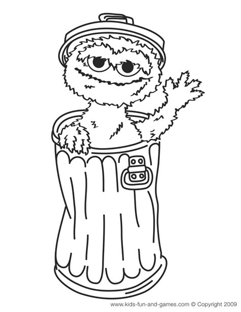 Sesame Street Coloring Pages Oscar The Grouch Coloring Page