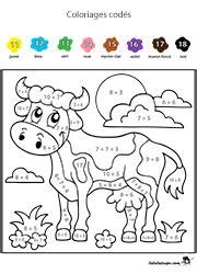 Coloriages Cod 233 S Lulu La Taupe Jeux Gratuits Pour Enfants Coloriage Magique Nombres Cp L