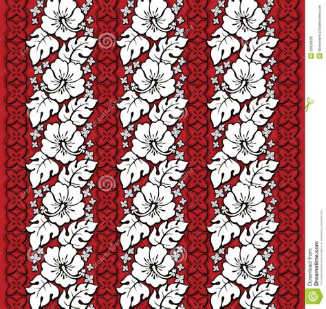 hawaiian floral pattern hawaiian floral pattern red and white royalty free stock