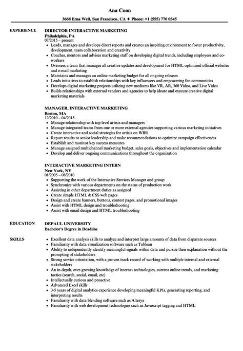 interactive resume exles photos exle resume