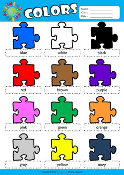 Color Picture Dictionary colors esl picture dictionary for