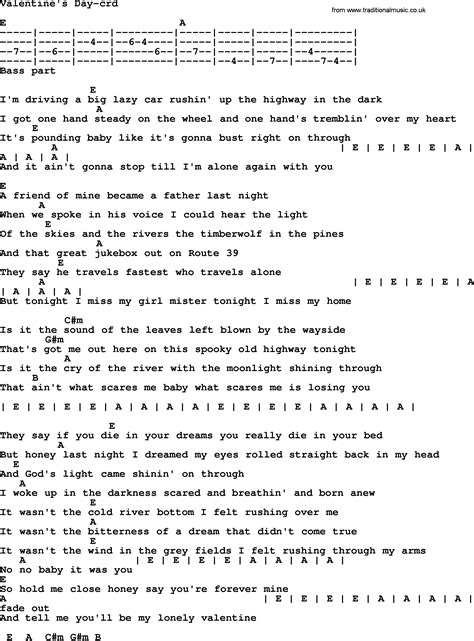 s day lyrics bruce springsteen bruce springsteen song s day lyrics and chords