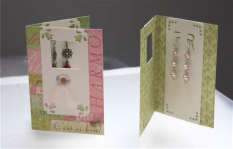 Handmade Earring Cards - handmade earring cards earring display cards modish