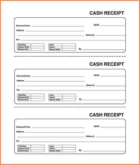 9 blank receipt form return receipt form