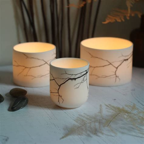 Ceramic Candle Holders by Porcelain Ceramic Branch Candle Holder By Laverick