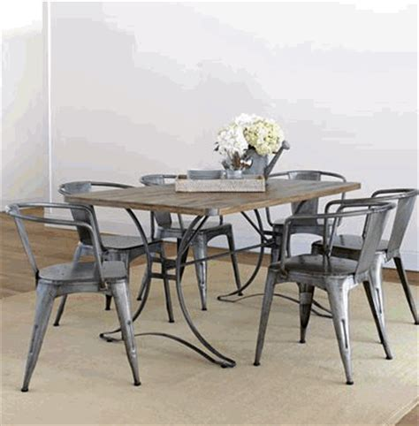 industrial style dining table set merry vintage syle white and industrial