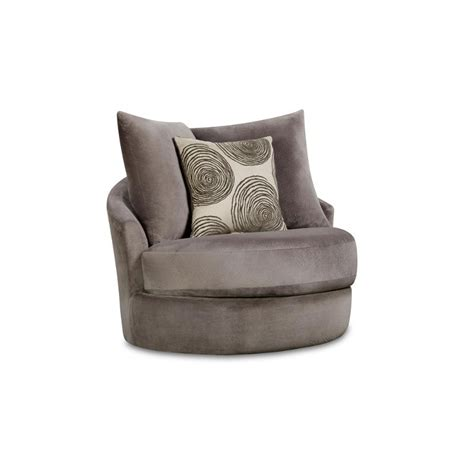 Gray Swivel Chair - knockout gray upholstered contemporary swivel chair rc
