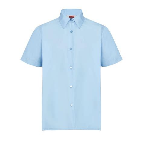 Blouse Blue light blue school blouse chiffon blouse pink