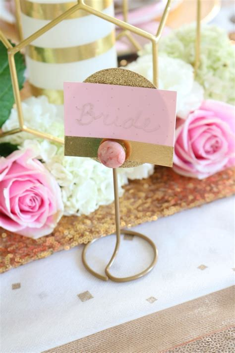 diy place card holders rose gold wedding diy place card