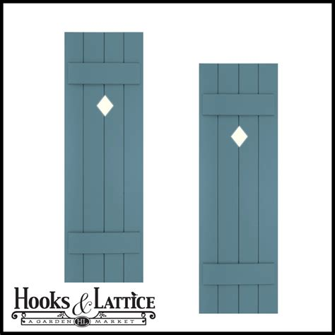 Curb Appeal Products - wood composite shutters batten and board shutters