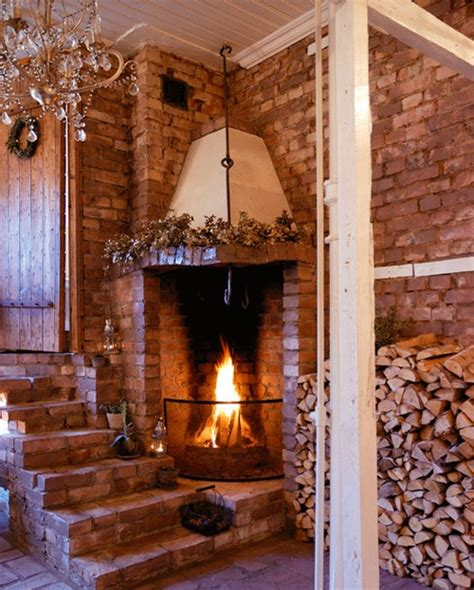 Rustic Brick Fireplace by 1000 Images About Mantles Fireplaces On