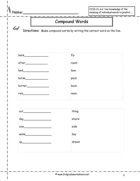 Compound Worksheets by Compound Words Worksheets Free Worksheets Library