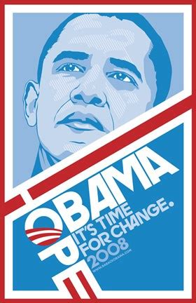 barack obama hope blue campaign poster wall poster