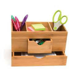 bamboo three tier desk organizer in desktop organizers