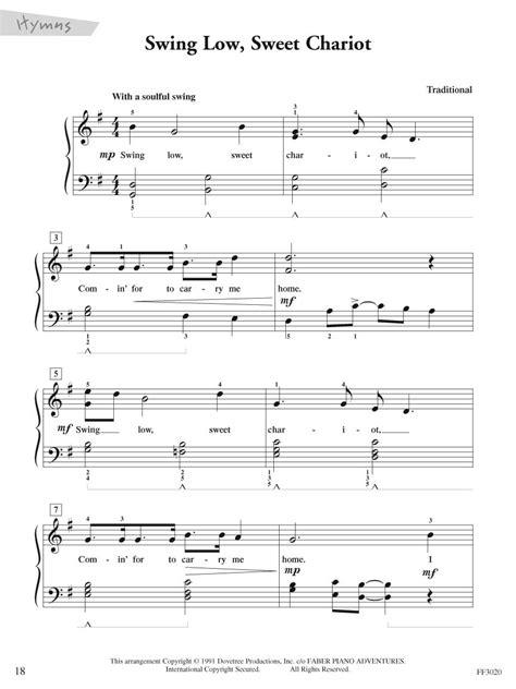 swing swing swing lyrics 47 swing low sweet chariot piano sheet music auld