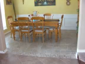 Tile In Dining Room Tiling Marshall General Contracting