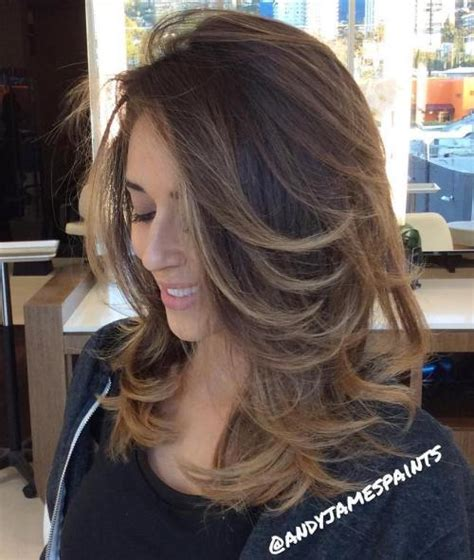 extremely long side latered flipped up hair on sides 70 brightest medium length layered haircuts and hairstyles